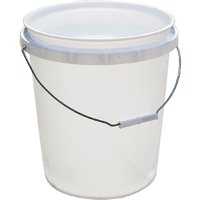 Encore Plastics 50640 Industrial Plastic 70-Mil Bucket w/ Handle, 5-Gallon, Pail White