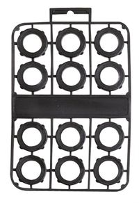 HOSE WASHER BLACK VINYL 12/PK