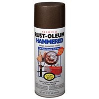 Rust-Oleum 210880 Hammered Metal Finish Spray, Brown, 12-Ounce