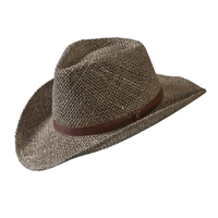 "HAT SEAGRASS WESTERN ""FIT-MOST"""