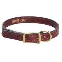 "Mendota Flat Leather Collar - Narrow 3/4"""
