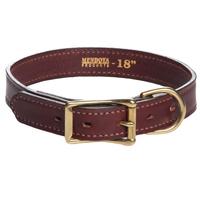 "Mendota Flat Leather Collar - Wide 1"""